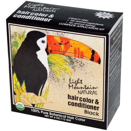 Light Mountain, Natural Hair Color & Conditioner, Black, 4 oz (113 g) Review