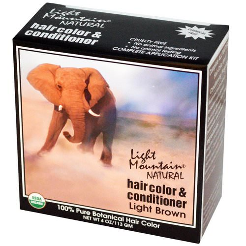 Light Mountain, Natural Hair Color & Conditioner, Light Brown, 4 oz (113 g) Review