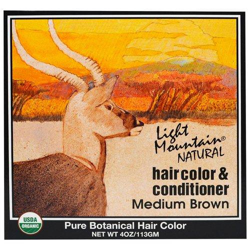 Light Mountain, Natural Hair Color & Conditioner, Medium Brown, 4 oz (113 g) Review