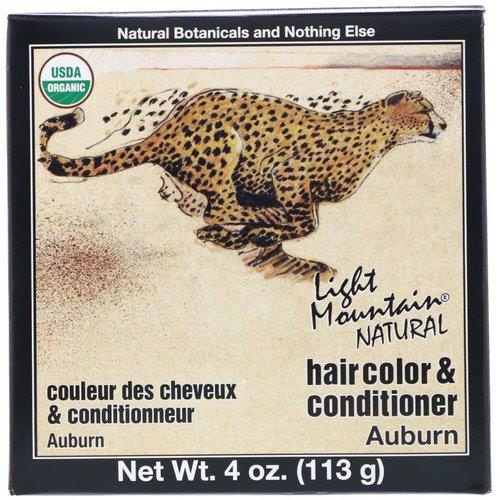 Light Mountain, Organic Natural Hair Color & Conditioner Application Kit, Auburn, 4 oz (113 g) Review