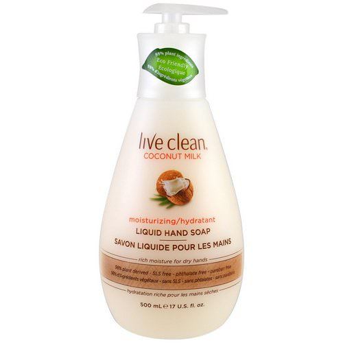 Live Clean, Moisturizing Liquid Hand Soap, Coconut Milk, 17 fl oz (500 ml) Review