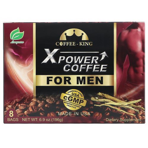 Longreen, Xpower Coffee for Men, 8 Bags, 6.9 oz (196 g) Review