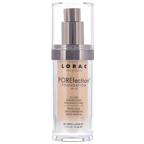 Lorac, POREfection Foundation, PR4 Light Medium, 1.12 fl oz (33.3 ml) Review
