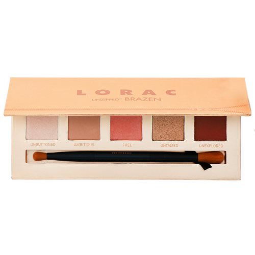 Lorac, Unzipped Brazen Eye Shadow Palette with Dual-Ended Brush, 0.37 oz (10.5 g) Review