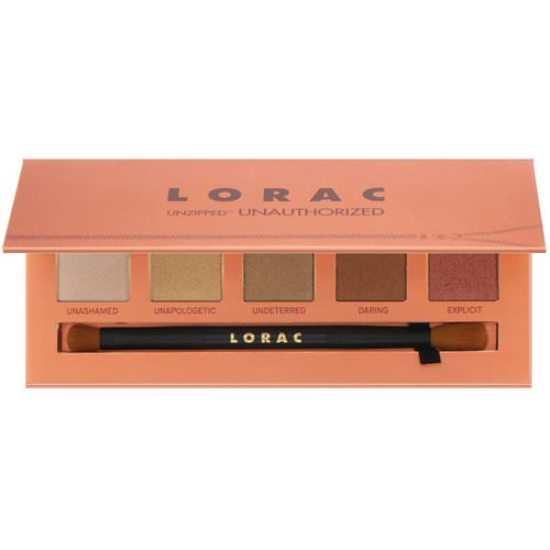 Lorac, Unzipped Unauthorized Eye Shadow Palette with Dual-Ended Brush, 0.37 oz (10.5 g) Review