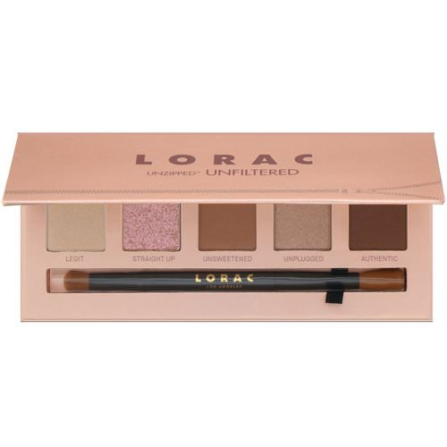 Lorac, Unzipped Unfiltered Eye Shadow Palette with Dual-Ended Brush, 0.37 oz (10.5 g) Review