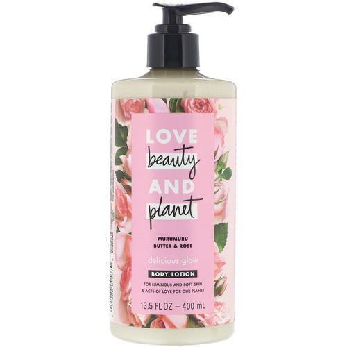 Love Beauty and Planet, Delicious Glow Body Lotion, Murumuru Butter & Rose, 13.5 fl oz (400 ml) Review