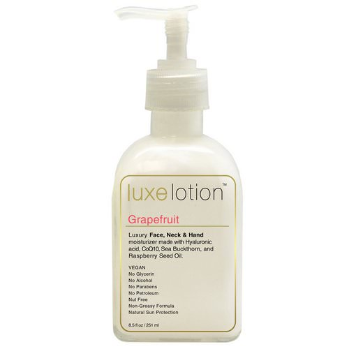 LuxeBeauty, Luxe Lotion, Luxury Face, Neck & Hand Moisturizer, Grapefruit, 8.5 fl oz (251 ml) Review