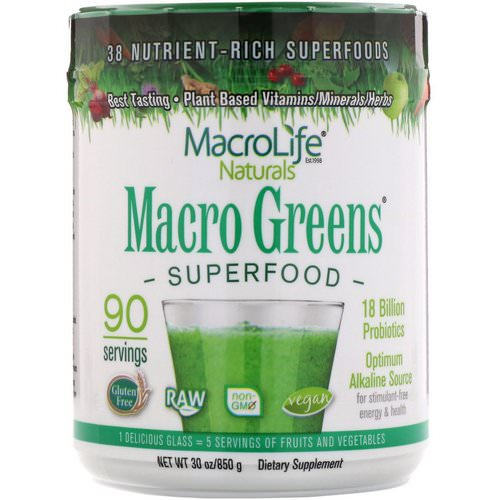 Macrolife Naturals, Macro Greens, Superfood, 30 oz (850 g) Review