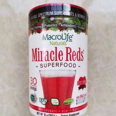 Miracle Reds, Superfood, Goji- Pomegranate- Acai- Mangosteen