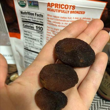 Organic Dried Apricots, In The Buff Supersnacks