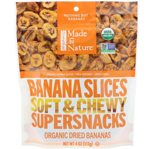 Made in Nature, Organic Dried Banana Slices, Soft & Chewy Supersnacks, 4 oz (113 g) Review