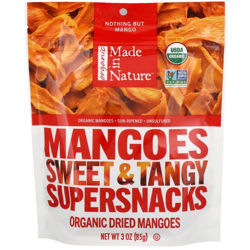 Made in Nature, Organic Dried Mangoes Sweet & Tangy Supersnacks, 3 oz (85 g) Review