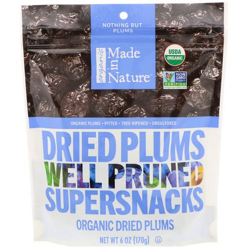Made in Nature, Organic Dried Plums, Well Pruned Supersnacks, 6 oz (170 g) Review
