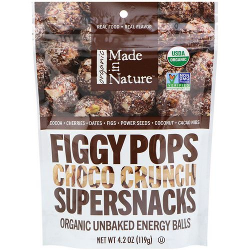 Made in Nature, Organic Figgy Pops, Choco Crunch Supersnacks, 4.2 oz (119 g) Review