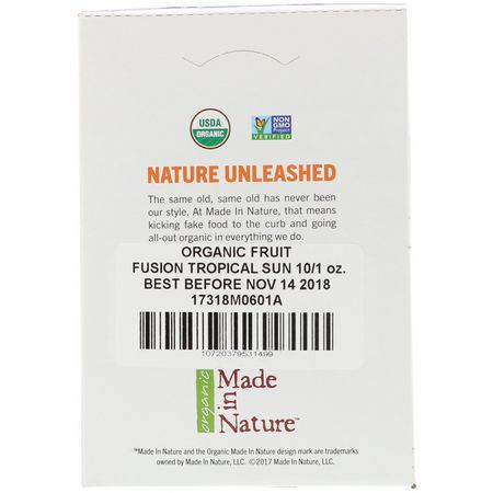 Made in Nature, Fruit, Vegetable Snacks, Mixed Fruit