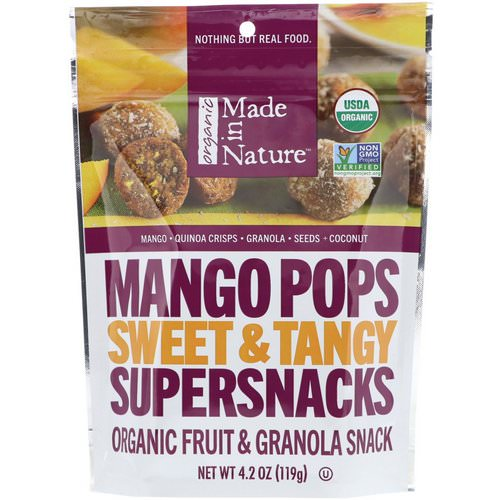 Made in Nature, Organic Mango Pops, Sweet & Tangy Supersnacks, 4.2 oz (119 g) Review