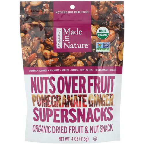 Made in Nature, Organic Nuts Over Fruit, Pomegranate Ginger Supersnacks, 4 oz (113 g) Review