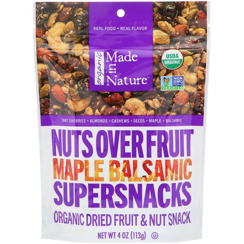 Made in Nature, Organic, Nuts Over Fruit Supersnacks, Maple Balsamic, 4 oz (113 g) Review