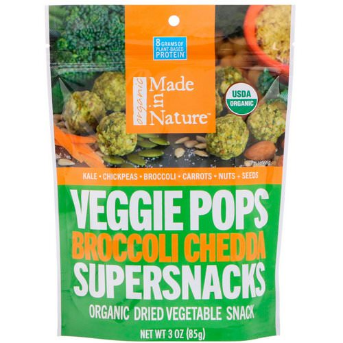 Made in Nature, Organic Veggie Pops, Broccoli Chedda Supersnacks, 3 oz (85 g) Review