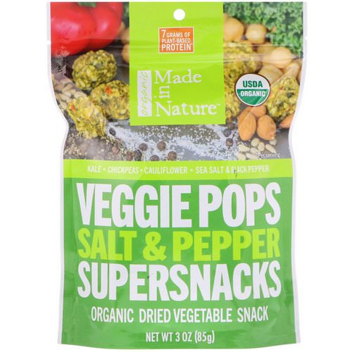Made in Nature, Organic Veggie Pops, Salt & Pepper Supersnacks, 3 oz (85 g) Review