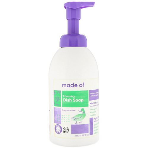 MADE OF, Foaming Dish Soap, Fragrance Free, 18 fl oz (532.32 ml) Review