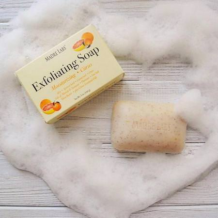 Exfoliating Bar Soap, with Marula & Tamanu Oils plus Shea Butter, Citrus