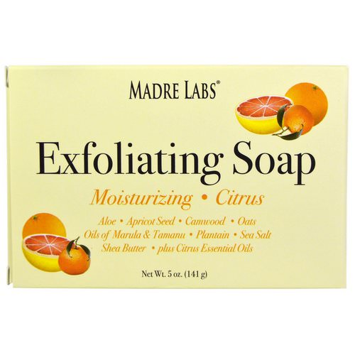 Madre Labs, Exfoliating Bar Soap, with Marula & Tamanu Oils plus Shea Butter, Citrus, 5 oz (141 g) Review