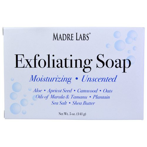 Madre Labs, Exfoliating Bar Soap, with Marula & Tamanu Oils plus Shea Butter, Unscented, 5 oz (141 g) Review