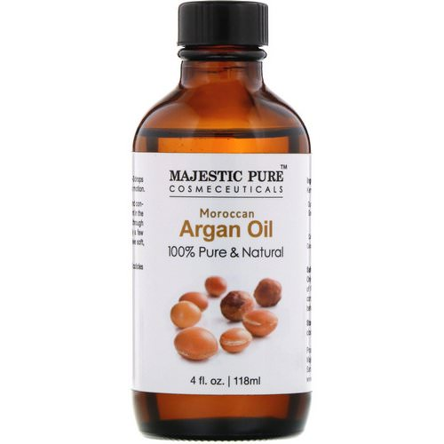 Majestic Pure, 100% Pure & Natural, Moroccan Argan Oil, 4 fl oz (118 ml) Review
