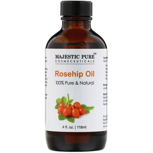 Majestic Pure, 100% Pure & Natural, Rosehip Oil, 4 fl oz (118 ml) Review