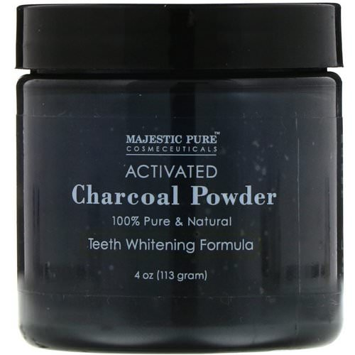Majestic Pure, Activated Charcoal Powder, Teeth Whitening Formula, 4 oz (113 g) Review