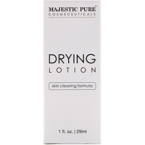 Majestic Pure, Drying Lotion, Skin Clearing Formula, 1 fl oz (29 ml) Review