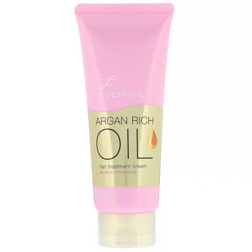 Mandom, Lucido-L, Argan Rich Oil, Hair Treatment Cream, 5.2 oz (150 g) Review