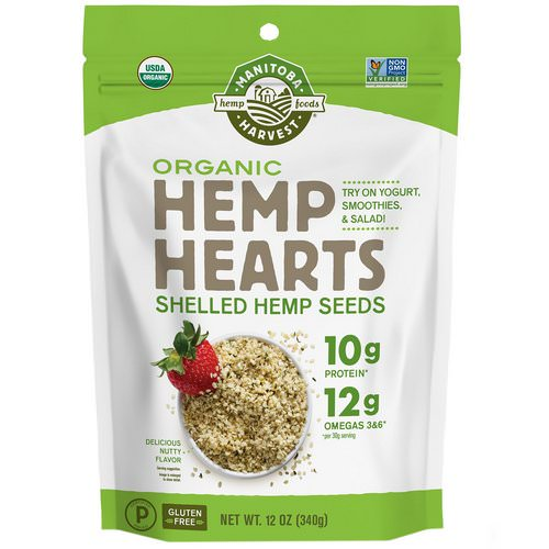Manitoba Harvest, Hemp Hearts, Organic Shelled Hemp Seeds, Delicious Nutty Flavor, 12 oz (340 g) Review