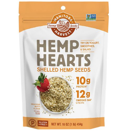 Manitoba Harvest, Hemp Hearts, Shelled Hemp Seeds, Delicious Nutty Flavor, 16 oz (454 g) Review