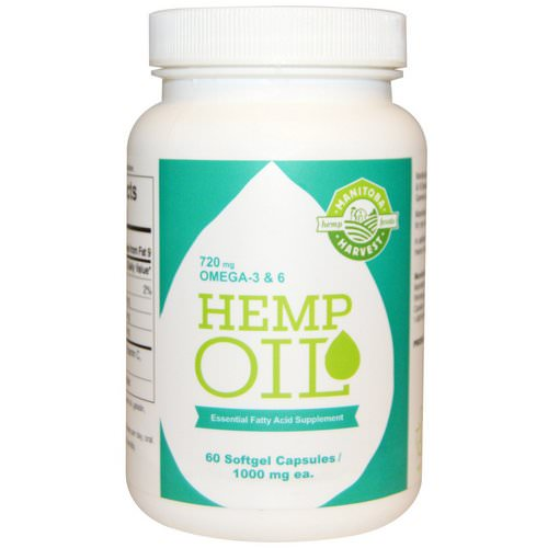 Manitoba Harvest, Hemp Oil, 1000 mg, 60 Softgel Capsules Review