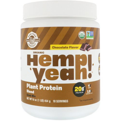 Manitoba Harvest, Organic Hemp Yeah! Plant Protein Blend, Chocolate Flavor, 16 oz (454 g) Review