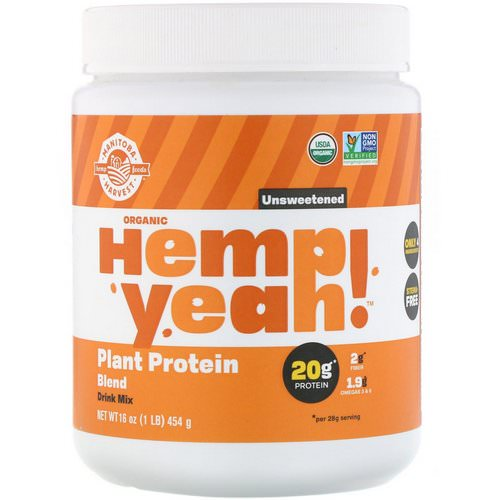 Manitoba Harvest, Organic Hemp Yeah! Plant Protein Blend, Unsweetened, 16 oz (454 g) Review