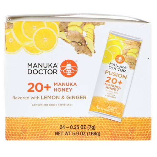 Manuka Doctor, Fusion 20+ Manuka Honey, Flavored with Lemon & Ginger, 24 Sachets, 0.25 oz (7 g) Each Review