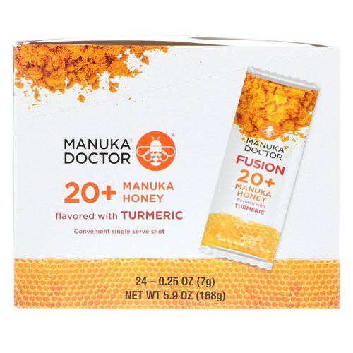 Manuka Doctor, Fusion 20+ Manuka Honey, Flavored with Turmeric, 24 Sachets, 0.25 oz (7 g) Each Review