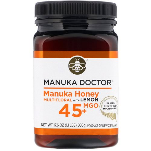 Manuka Doctor, Manuka Honey Multifloral with Lemon, MGO 45+, 1.1 lb (500 g) Review