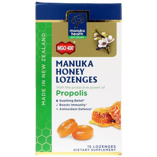 Manuka Health, Manuka Honey Lozenges, Propolis, MGO 400+, 15 Lozenges Review