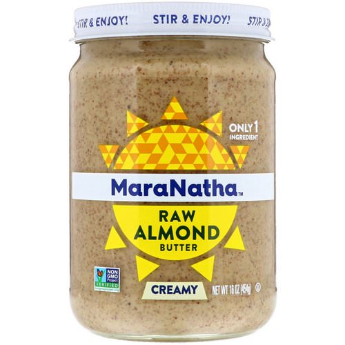 MaraNatha, Raw Almond Butter, Creamy, 16 oz (454 g) Review