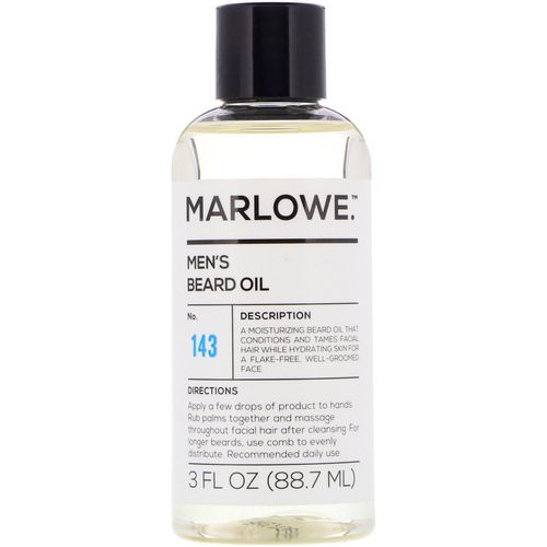 Marlowe, Men's Beard Oil, No. 143, 3 fl oz (88.7 ml) Review