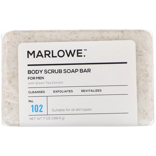 Marlowe, Men's Body Scrub Soap Bar, No. 102, 7 oz (198.4 g) Review
