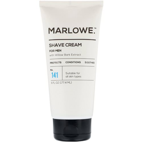 Marlowe, Men's Shave Cream, No. 141, 6 fl oz (177.4 ml) Review