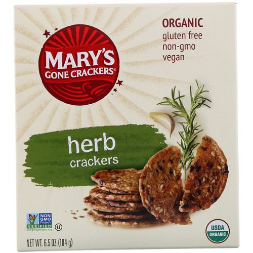 Mary's Gone Crackers, Organic, Herb Crackers, 6.5 oz (184 g) Review