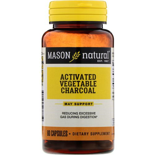 Mason Natural, Activated Vegetable Charcoal, 60 Capsules Review