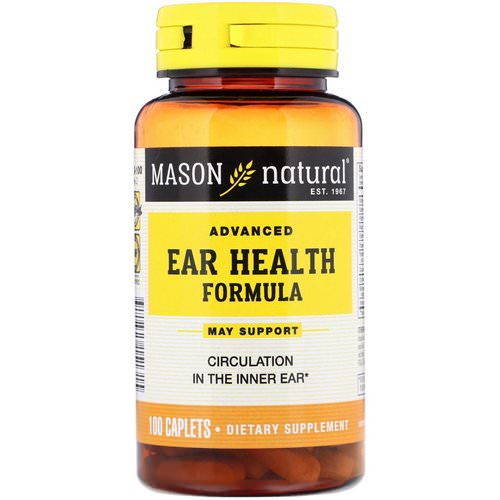 Mason Natural, Advanced Ear Health Formula, 100 Caplets Review